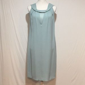 Raoul V-Neck Mint Green Sleeveless Silk Dress